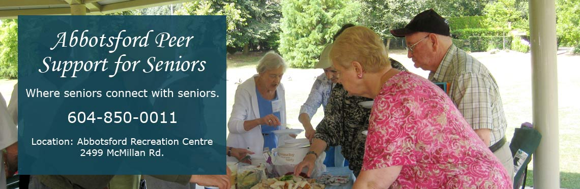 Abbotsford Peer Support for Seniors gathering in the park